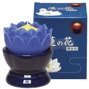 蓮花蠟燭(藍)