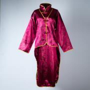 女士旗袍裝(棗紅色)