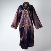 女士旗袍裝(藍紫色)