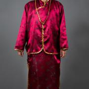 女絲緞旗袍(酒紅)