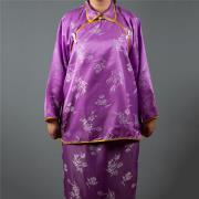 雙色緞鳳仙裝(紫色)