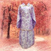 皮花彩緞鳳仙裝(紫)