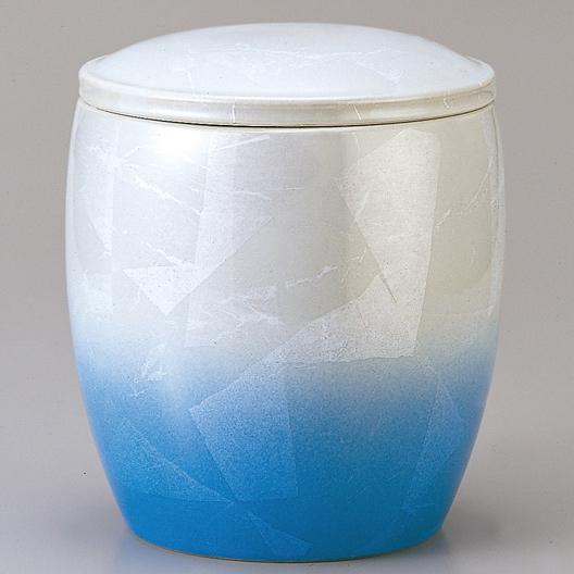 釉裏銀彩 藍