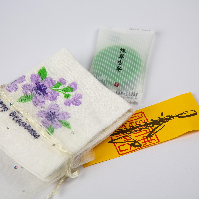 櫻花紗布小方巾