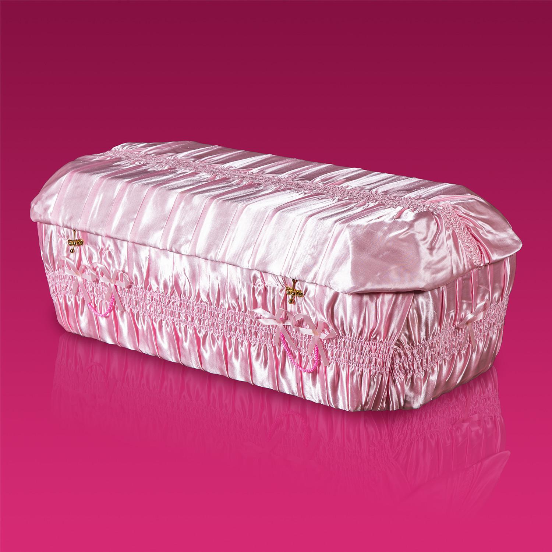 棺木-天使棺90公分粉紅色-北北基桃