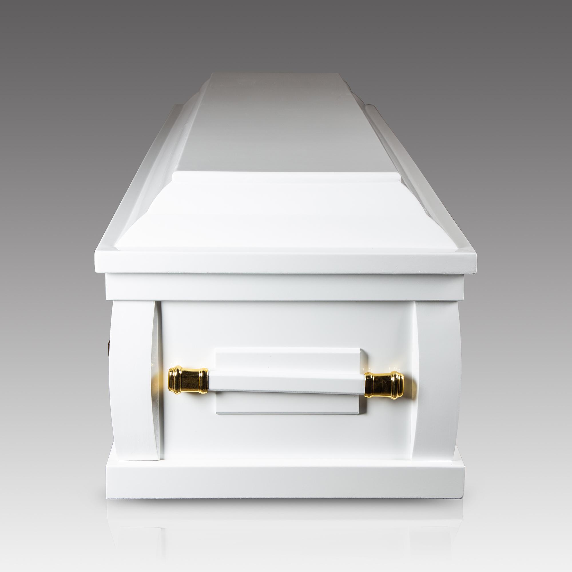 棺木-2尺1環保扶手棺白色-北北基桃