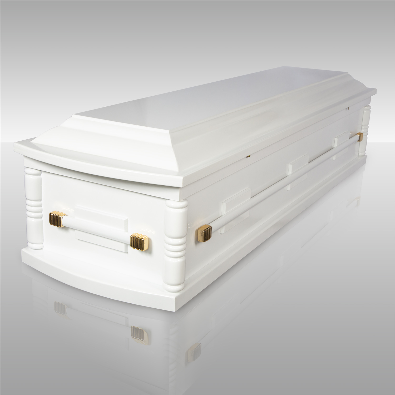 棺木-2呎環保火葬棺(白)-北北基桃