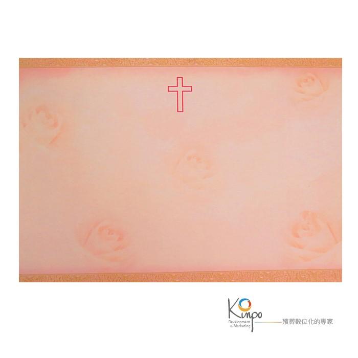 十字-紅(小三折-含信封)