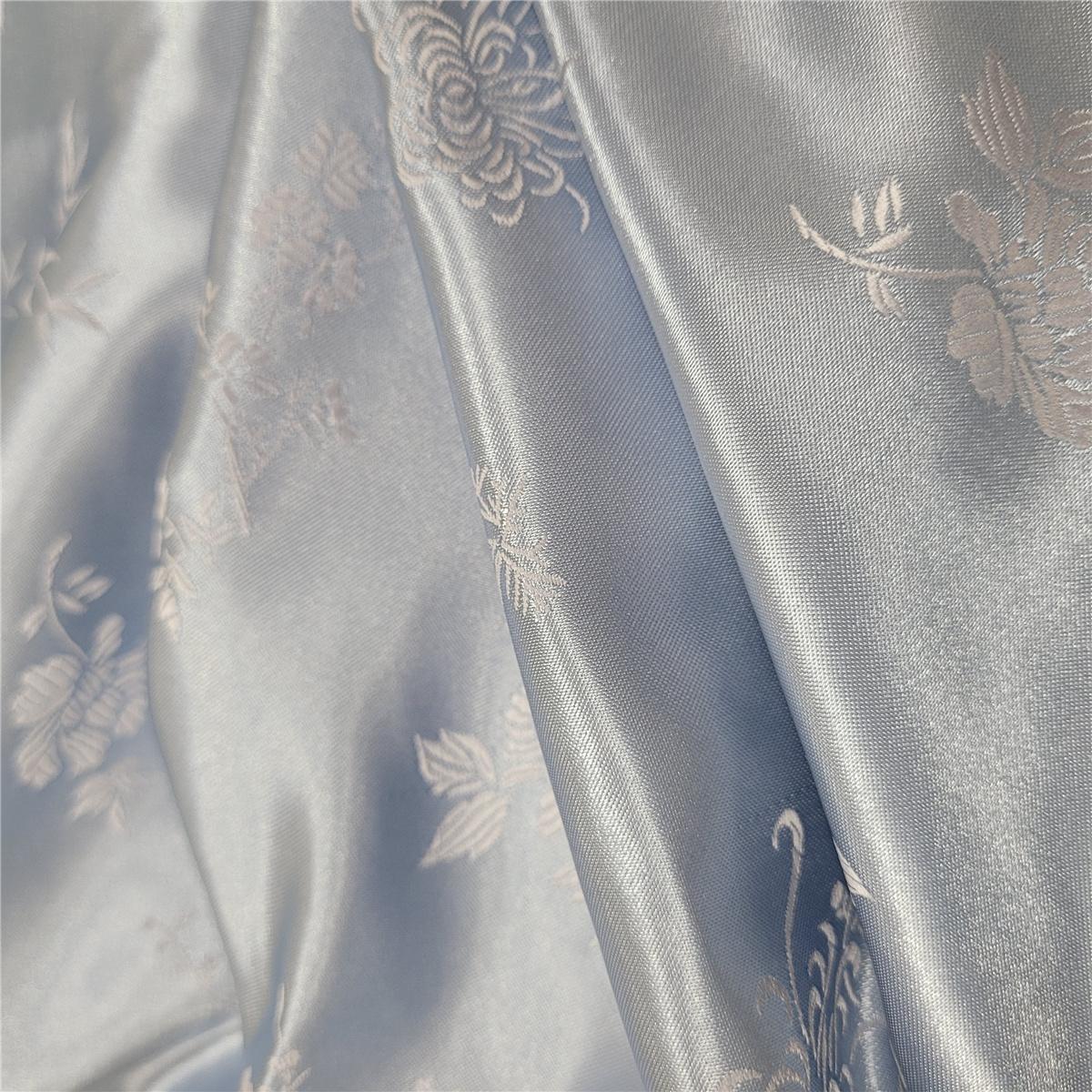 女絲緞旗袍(灰藍)